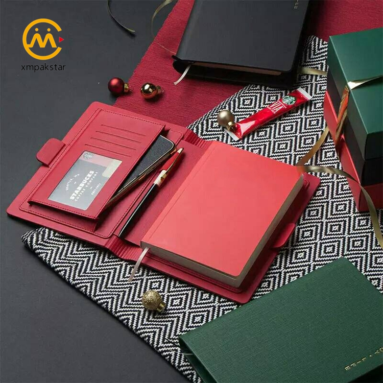 2020 wholesale notebook 120 sheets custom printing leather bullet journal with PU jacket cover