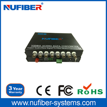 8 Channel Cctv Video To Fiber Converter Video/audio/data Fiber ...