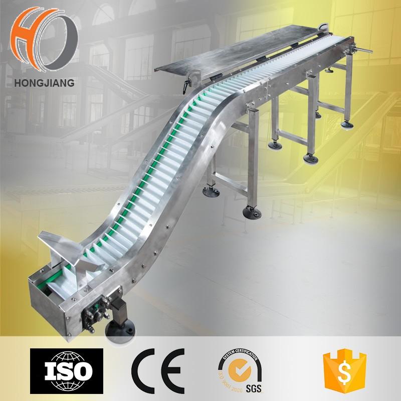 نظام ناقل المنحنى مع حزام معياري لآلة التغليف