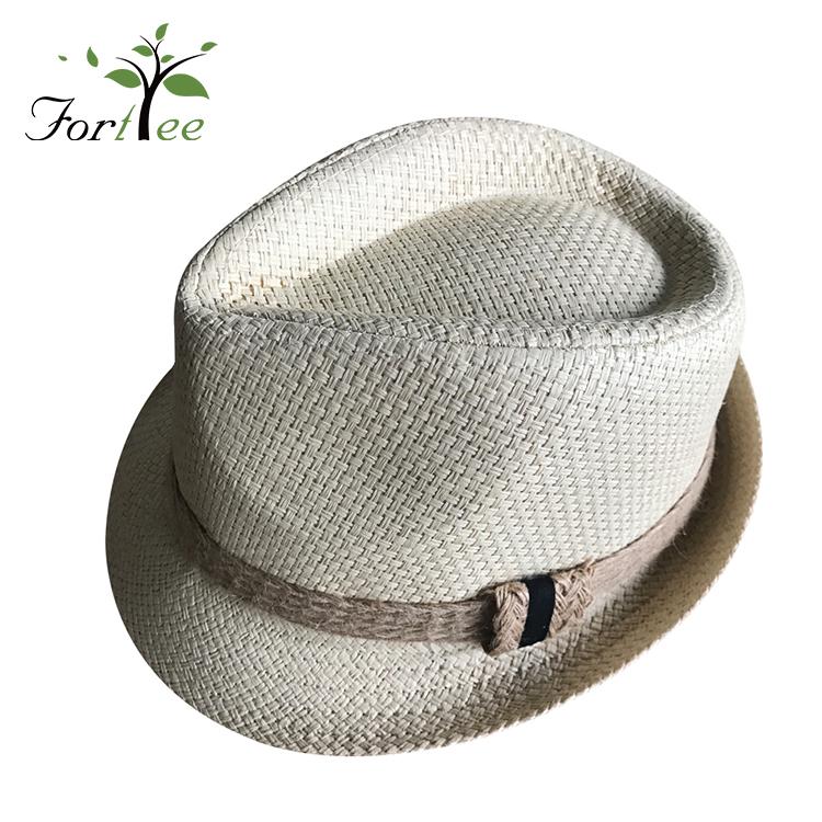 5a9758f55fc6c Baratos por atacado de design personalizado promocional de verão da moda  praia homem panamá chapéu de