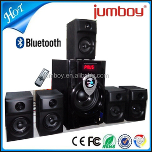 music 5.1 home theater speaker big sound bluetooth surround system with amplifier