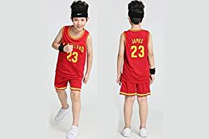 b67a67244678 Get Quotations · LeBron James Kids Suit Cleveland Cavaliers  23 Youth NBA  Jersey and Shorts