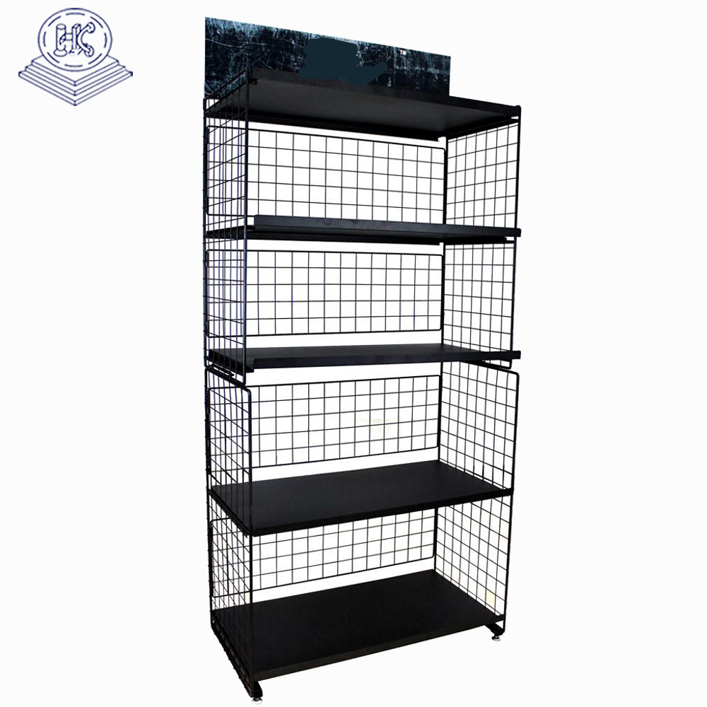 customized durable iron metal floor stand book display rack