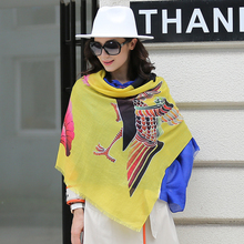 Haolijie new lady fashion warm cashmere scarf shawl
