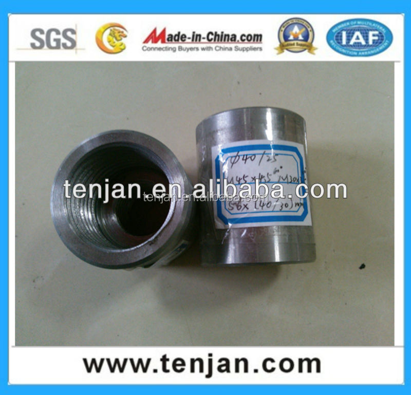 Hot sell in world market Steel bar MECHANICAL SPLICY Thread Rebar coupler/connecting sleeve (D12-50)