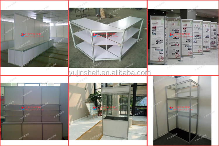 Exhibition Stand Types : Cheap price aluminum octagonal extrusion and pvc panel