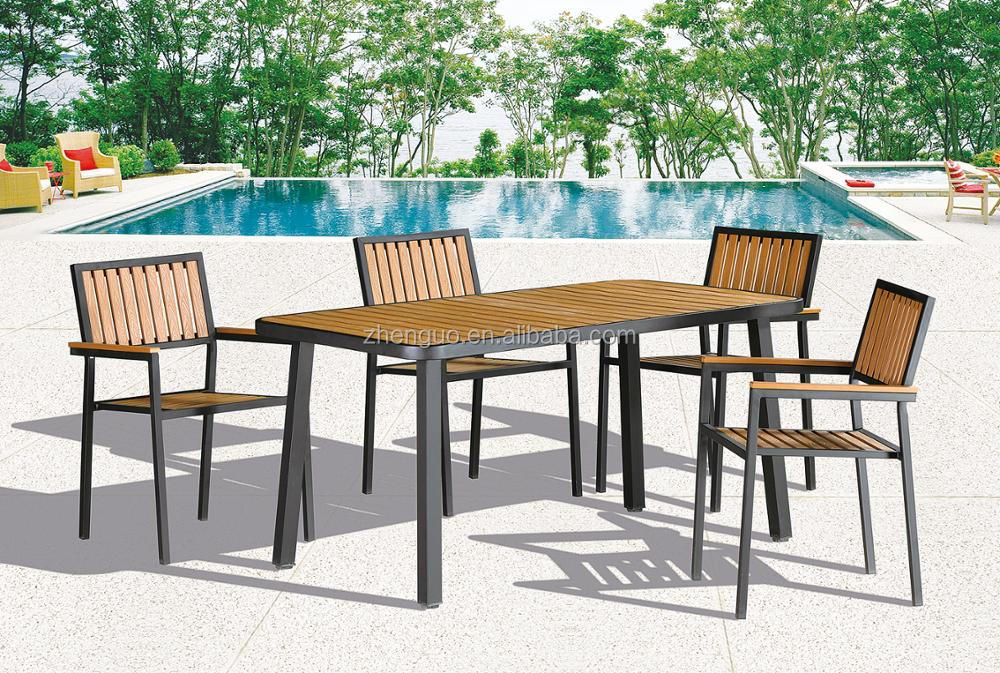 Tavoli E Sedie Da Giardino In Pvc.Curva Mobili Da Giardino Esterno Di Bambu Di Plastica Tavolo E