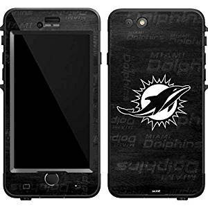 NFL Miami Dolphins LifeProof Nuud iPhone 6 Plus Skin - Miami Dolphins Black & White Vinyl Decal Skin For Your Nuud iPhone 6 Plus