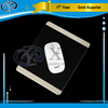 300*240mm black leather covering aluminum mouse pads