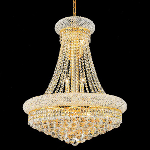 Luxury Small Crystal Empire Living Room Chandelier Light Gold ...