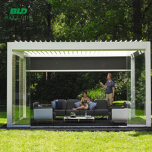 Waterproof outdoor aluminum motorized prefab awning for balcony