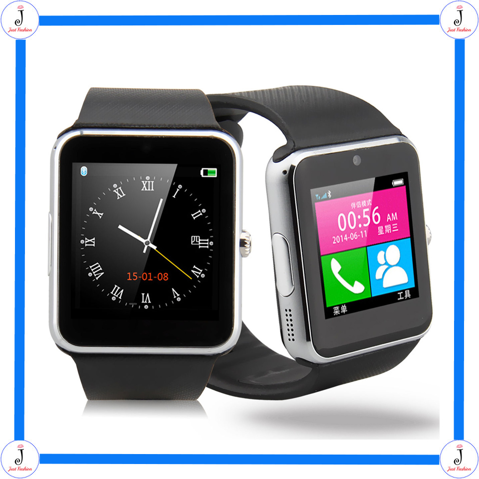 Fashion Bluetooth On Wrist Smart Watch NFC Wrist Phone For iPhone Andorid Passometer Sleep Tracker Smart Watch Free Shipping