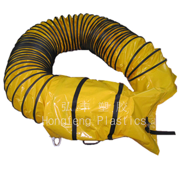 Condictive and flame resistant tunnel plastic air