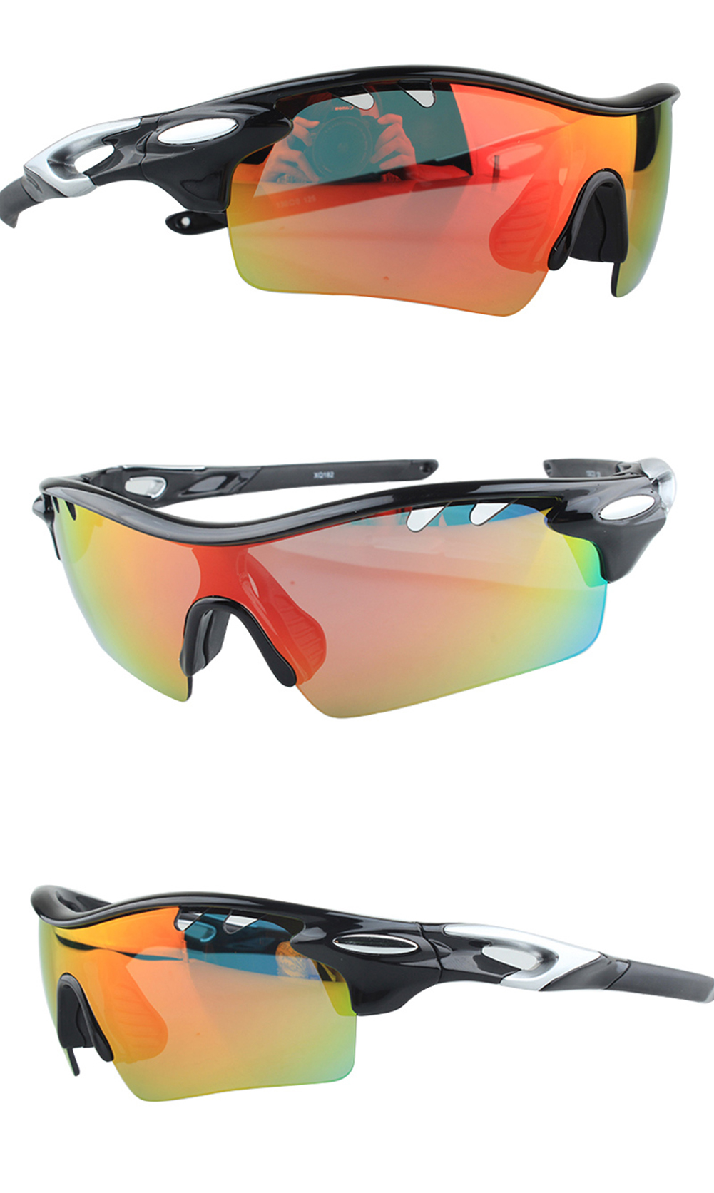 OEM Optical Inserts Cycling Glasses 5 Lens Prescription Sport Glasses Interchangeable Sunglasses For Outdoor Sport