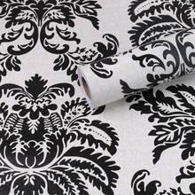 Роскошные Дамасские 3D рельефные обои, рулоны для украшения спальни, гостиной, водонепроницаемые настенные наклейки(Китай)