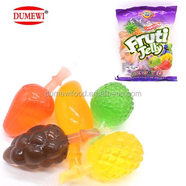 HALAL Mini Bag Pack Sweet Assorted Fruit Shape Jelly