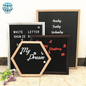 Factory directly supply wooden felt Letter board with letters emojis wooden stand