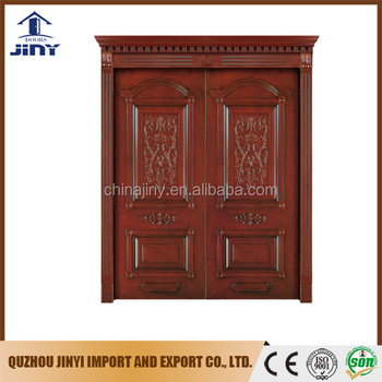 Wood Gate Double Doors Wooden Main Entrance Design For House