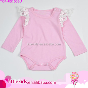 530af51f5 Baby Girls Flutter White Lace Angel Wings Pale Pink Long Sleeve ...