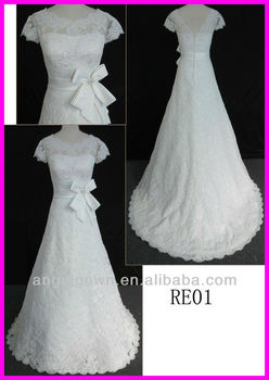 2014 guangzhou real princess short sleeves corded lace a for Guangzhou wedding dress market