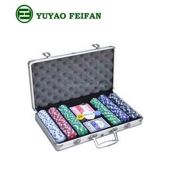 Custom goedkope 300 stks aluminium case poker chip set