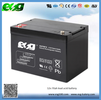 Factory direct selling battery 12v 70ah Double Tech Lead Acid Solar Wind Generator Battery