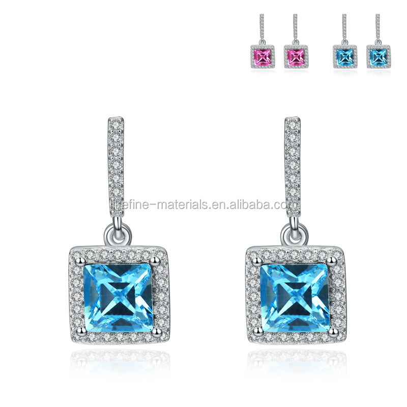 China cheap price best friends gifts 925 silver single diamond earrings