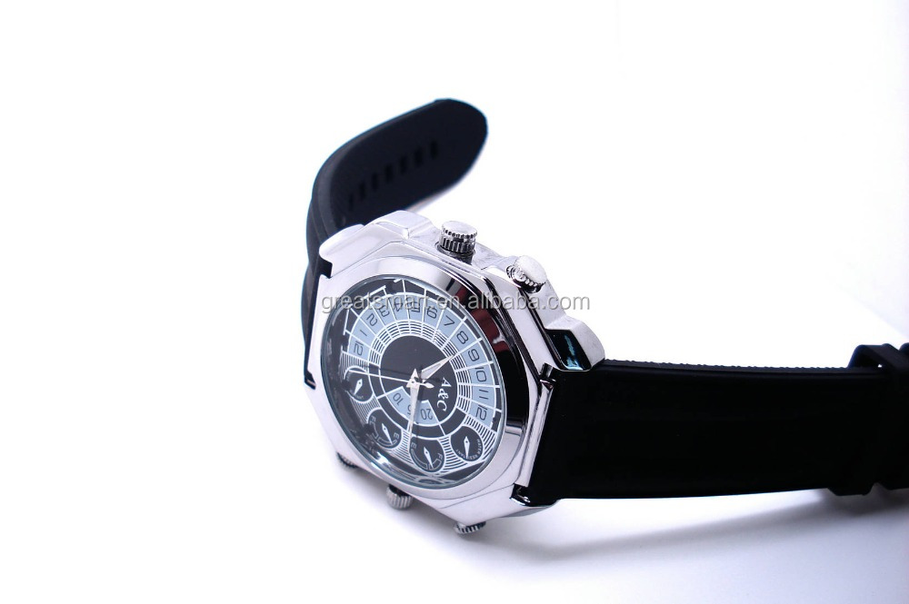 High tech DVR 1080P digital waterproof watch camera,, hand wrist Waterproof design 3ATM Watch camera,