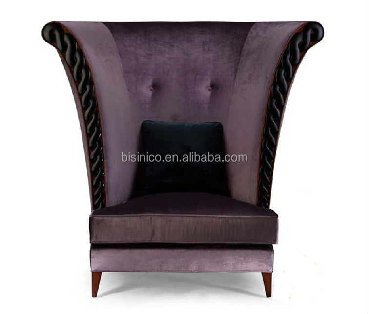 New Classical High Back Fabric Sofa ChairLeisure ChairSingle