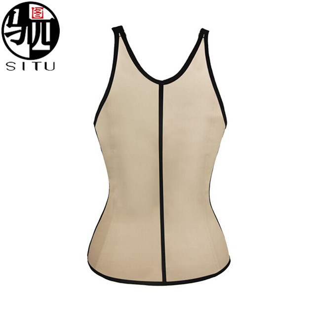 Waist Training Underbust Corset Sport Latex Rubber Vest Shaper