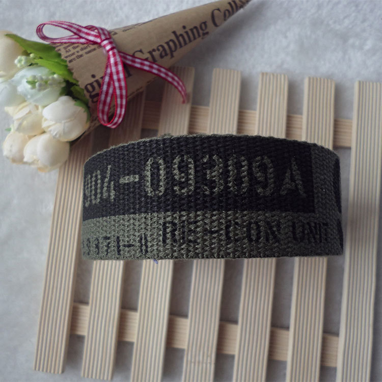 Wholesale Woven Cotton Jacquard Webbing For Bag Straps