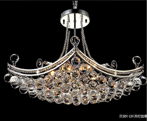 Russian Style Crystal Chandeliers, Pearl Lighting Pendant Lamp OM88505-500