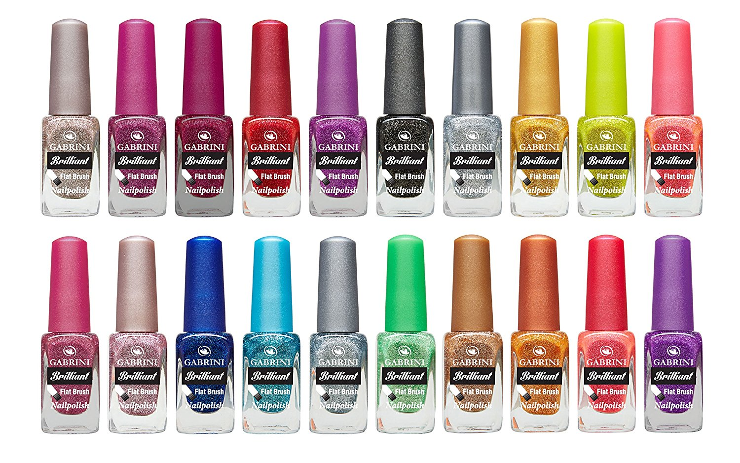 Gabrini Brilliant Nail Polish Set 20 Colors Glitter 13ml 0 44 Fl Oz In Price On M Alibaba