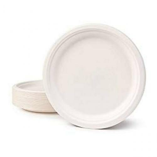 6 inch Classic Round Eco Friendly Renewable Sugarcane Bagasse Plates