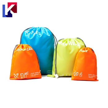 Storage Bag 4 Pcs One Set Promotional Nylon Cinch Bags Bulk