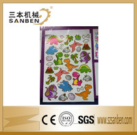 custom die cut cartoon kids products, fancy cartoon sticker, adhesive colorful kids sticker roll,