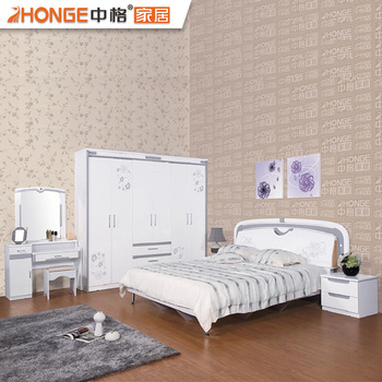 Free Shipping Mdf Modern Elegant High Gloss Bedroom Furniture