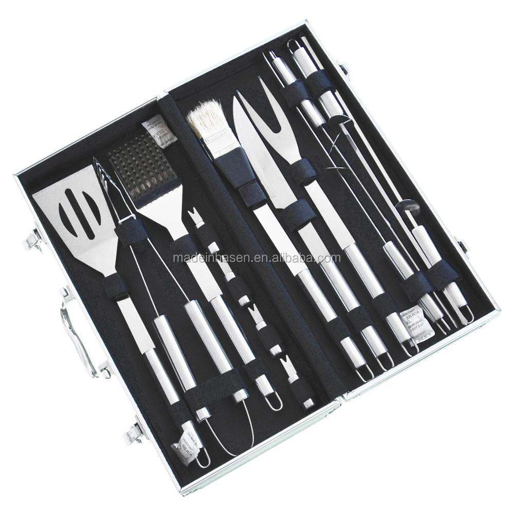 Fine Life BBQ Apron with 8-Piece Utensil Set
