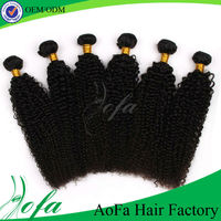 Can be dyed & restyled wholesale price 100 percent mongolian remy human hair kinky curly hair braiding