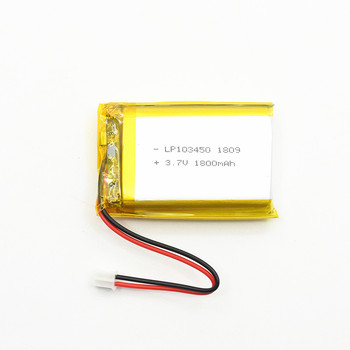 High capacity rechargeable 103450 3.7V 1800mah lipo battery bateria de
