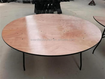 Exceptional Used Cheap Plywood Banquet Round Folding Tables For Sale