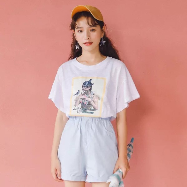 print women t shirts girl apparel in china