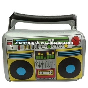 Plastic inflatable music toy/inflatable boom box prop toy for kids