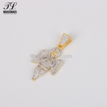 China suppliers cz 14k gold charms image+cupid gold pendants
