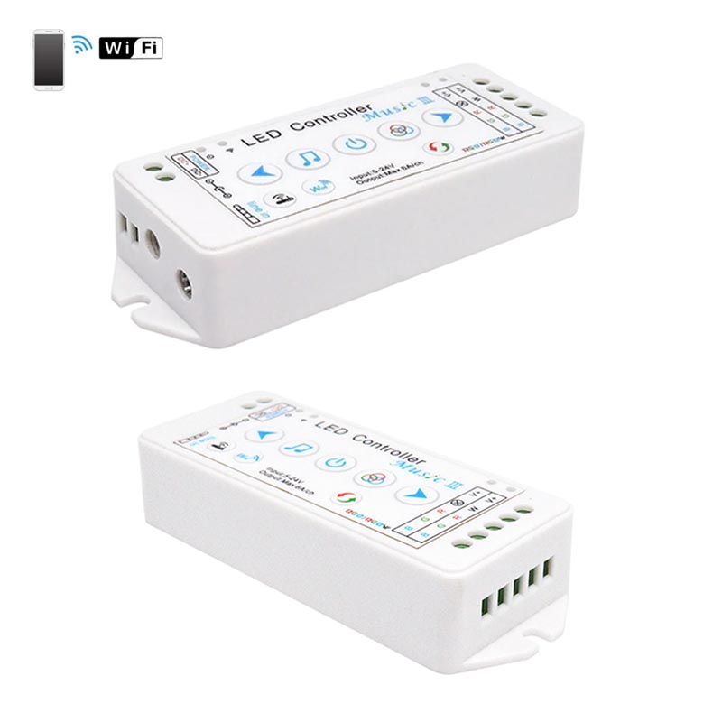 Popular competitive price 350g 6A/CH, 4CH led wifi ios music music sound to rgbw strip light controller