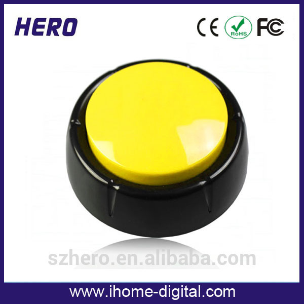 custom design printing and voice with 1-60s talking time snap button hand press machine