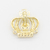 Fashion crown shape sewing hollow metal label logo metal alloy plate for suit sweater fabric