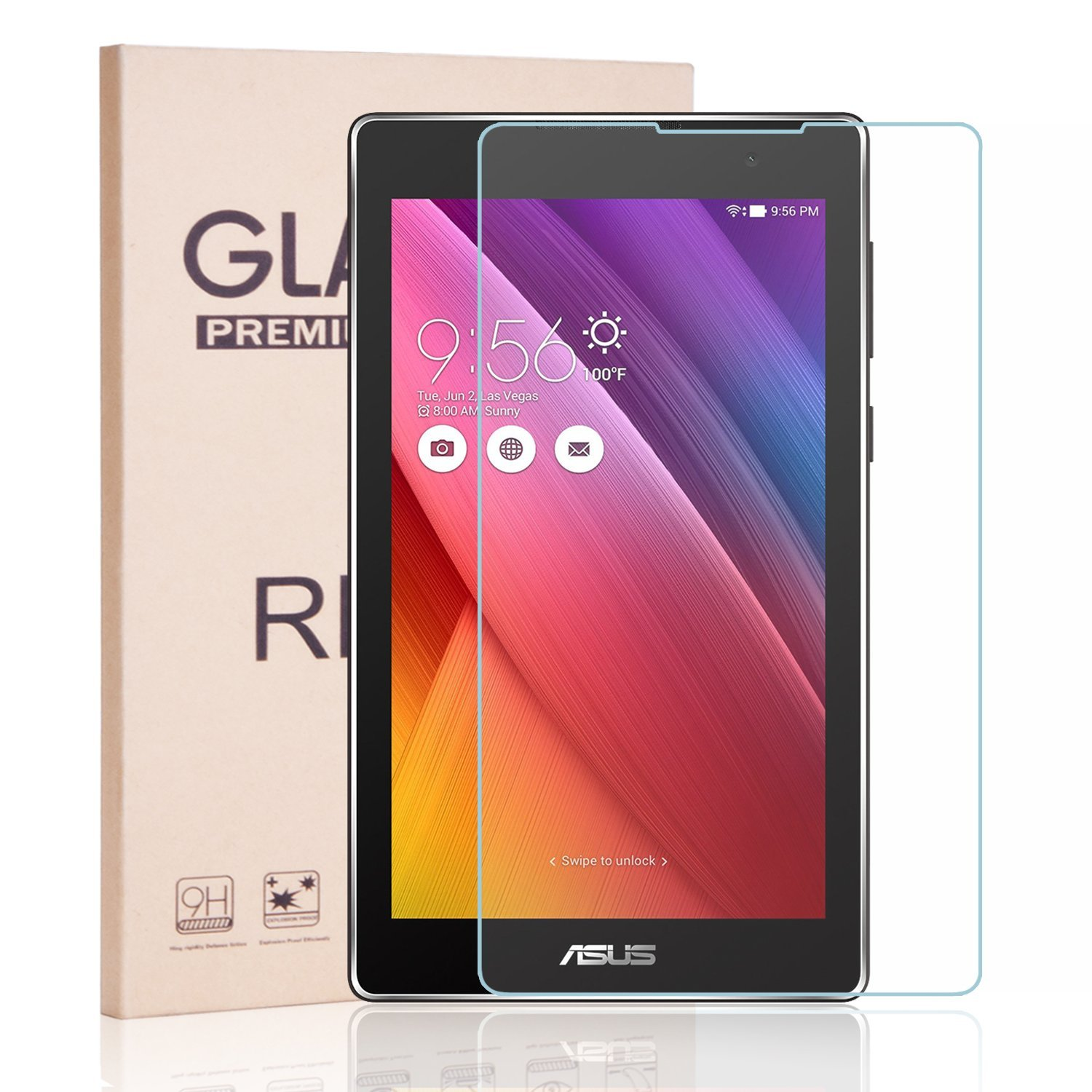 ASUS ZenPad C 7.0 [Tempered Glass] Screen Protector, RBEIK Premium 9H Tempered Glass [Anti-Scratch] Screen Protector for ASUS ZenPad C 7.0 Z170C Z170CG Z170MG 7-Inch Tablet 2015 Released