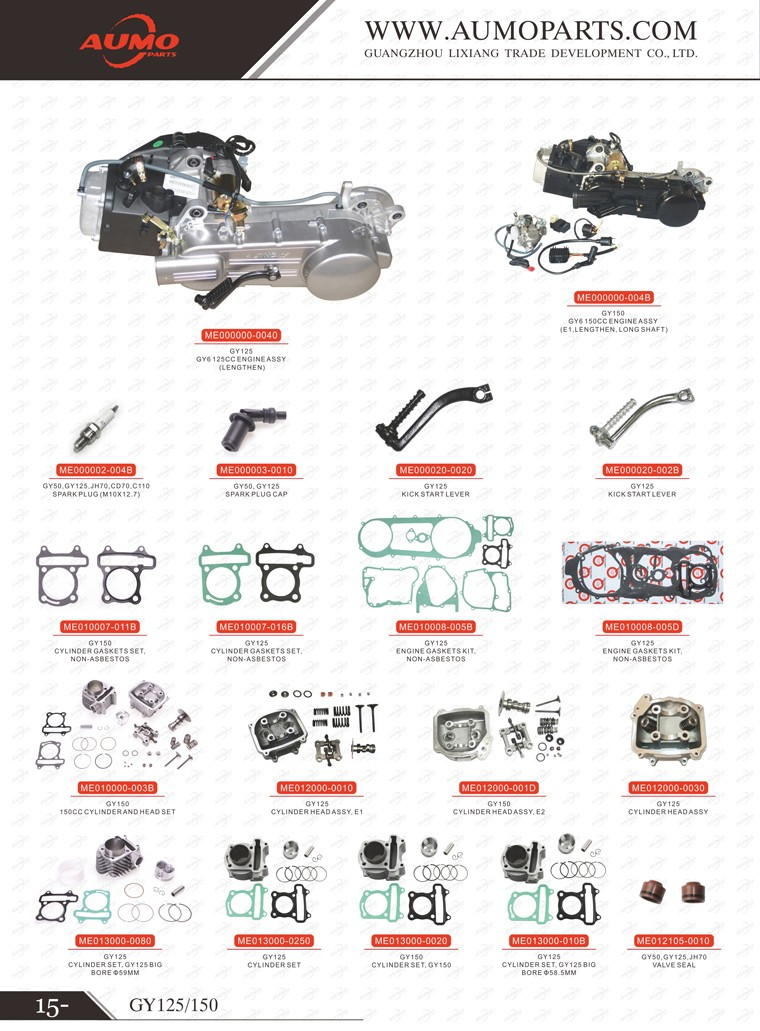 Gy6 150cc Engines Parts Cylinder Head With Valves And Camshaft For ...