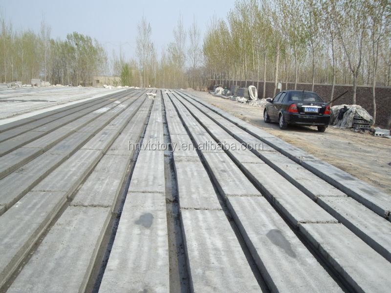 Precast Concrete Slabs : Precast concrete hollow core slab making machine view